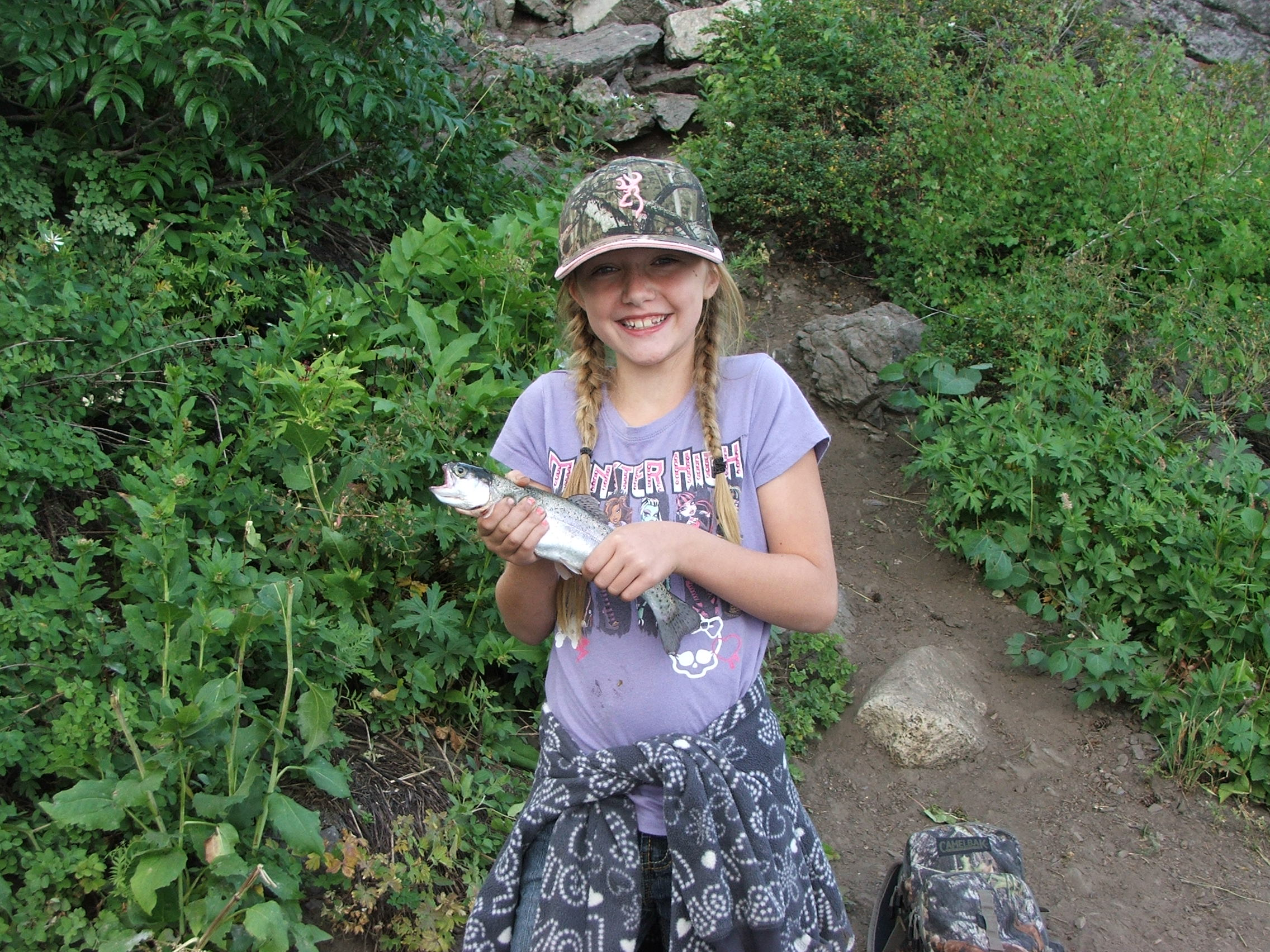 Fishing tony grove lake bearsbutt stories ramblings kenzie with her fish publicscrutiny Images