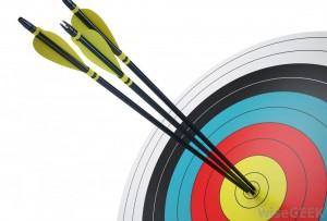 arrows-in-target