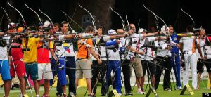 A general view of the Men's Individual Archery Ranking Round at Lords Cricket Ground, London.